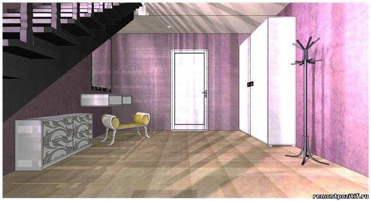 Дизайн прихожей и лестницы в