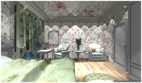 Кровать довольнобольшую и просторную