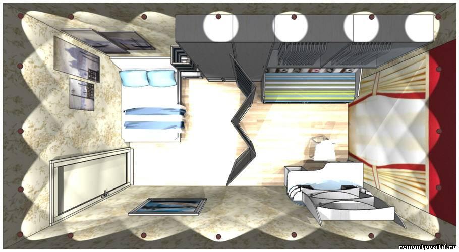 Дизайн комнаты мамы и сына