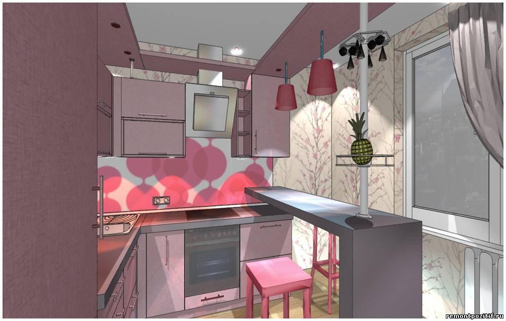 Дизайн кухни в цвете кофе с молоком