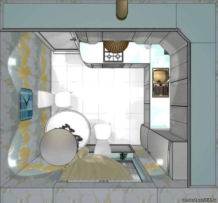 Дизайн 7-ми метровой кухни