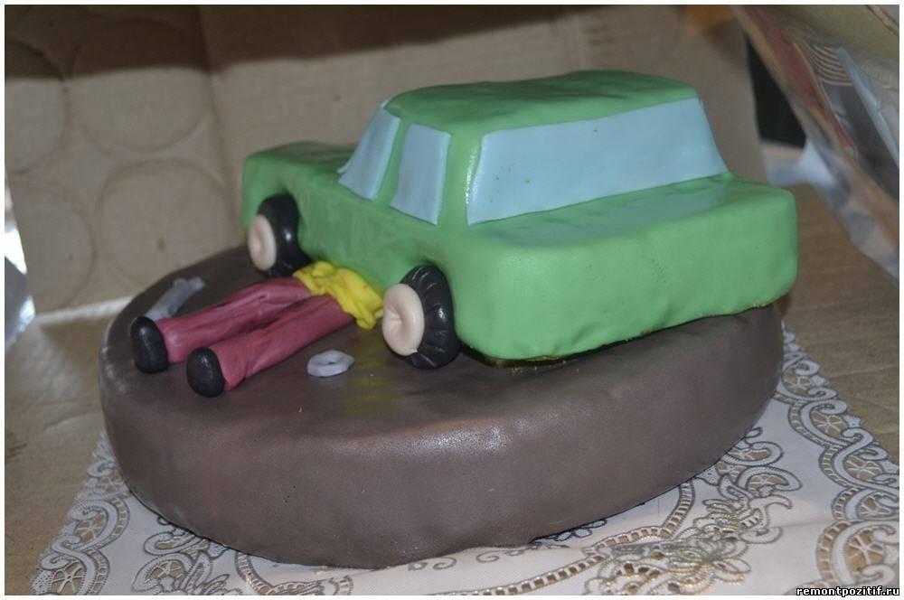 Торт в домашних условиях с мастикой машинка