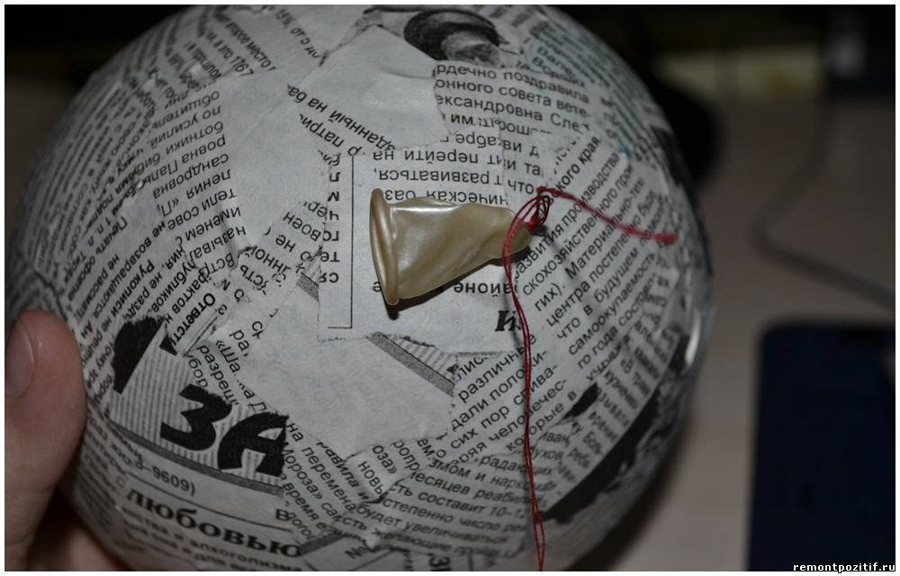 Как из газеты сделать шар