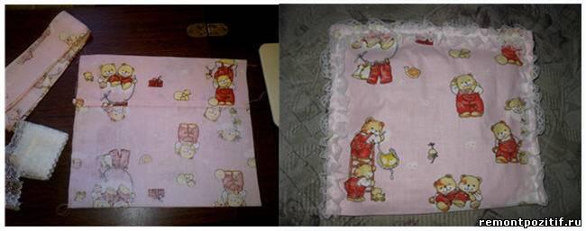 Подушка для младенца своими руками