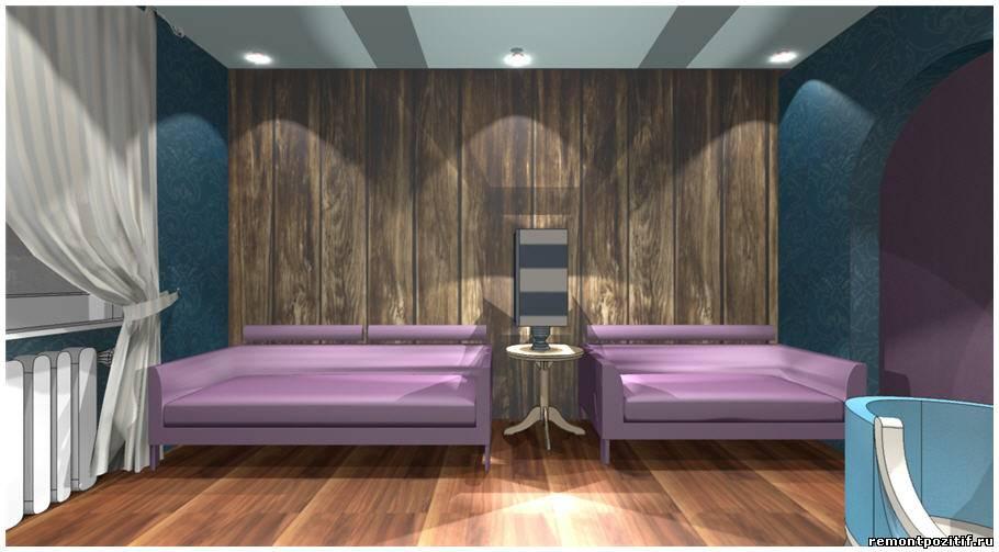Дизайн проект гостиной комнаты