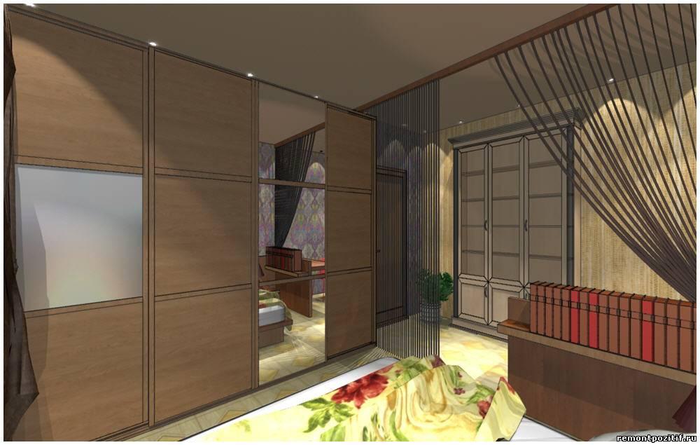 Дизайн интерьера спальни в восточном