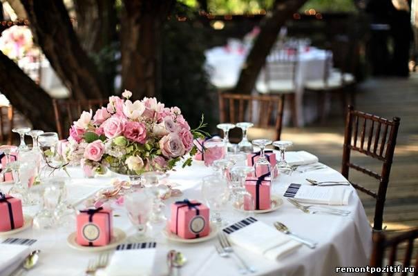 Как оформить свадебный стол фото