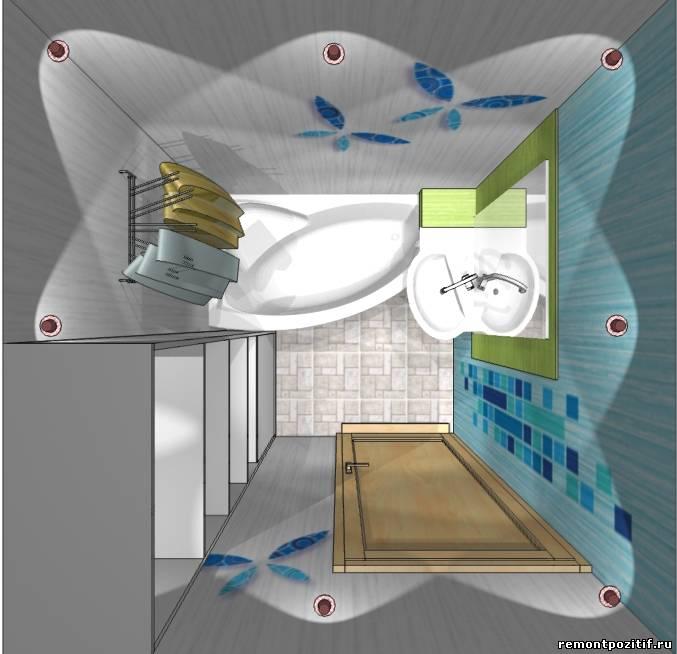 ванной комнаты 4 кв м со стиральной