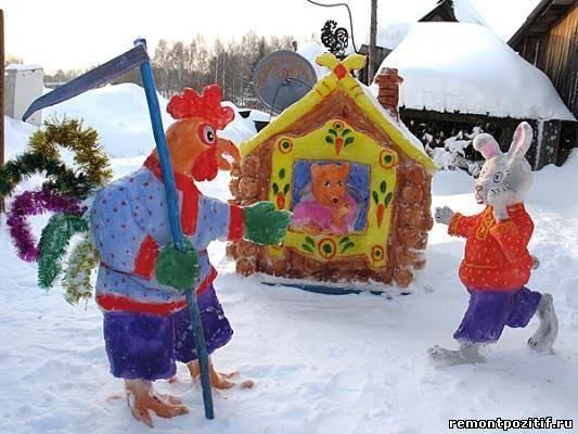 Композиции из снега своими руками