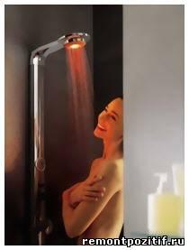 душевая кабинка или ванная