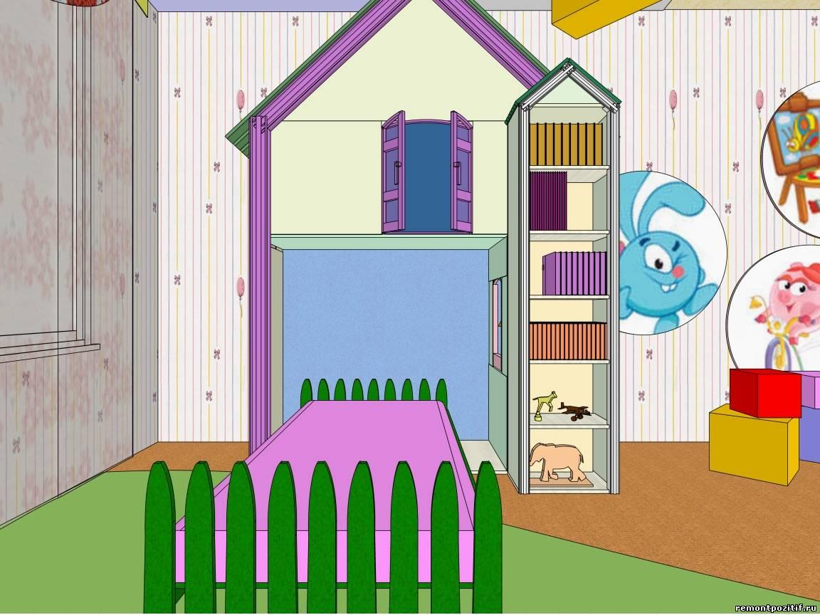 Дизайн комнаты для девочки проект