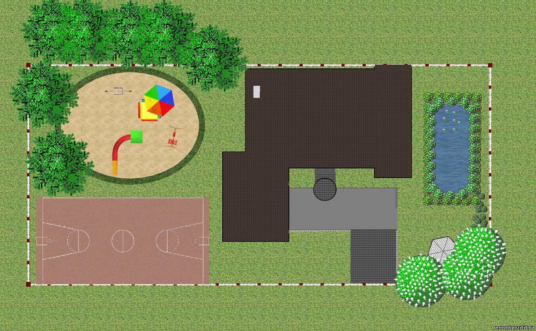 Проект дизайна участка сад для детей