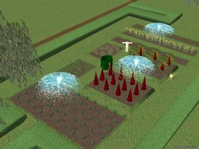 Проект дизайна участка с огородом в