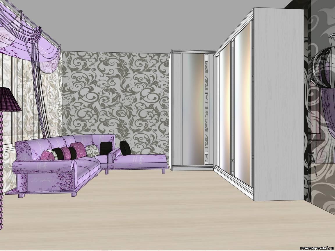 Дизайн спальни с диваном и кроватью фото
