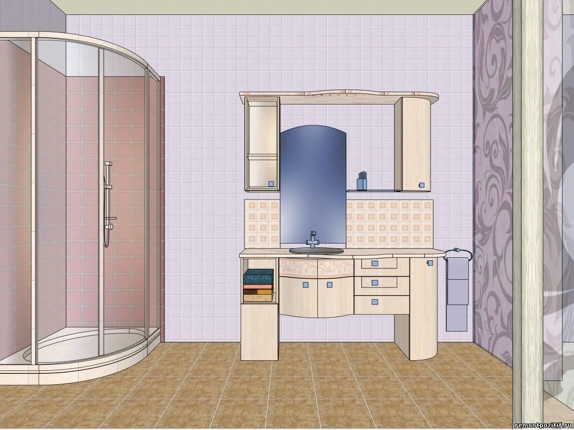 Дизайн небольшой ванной с туалетом