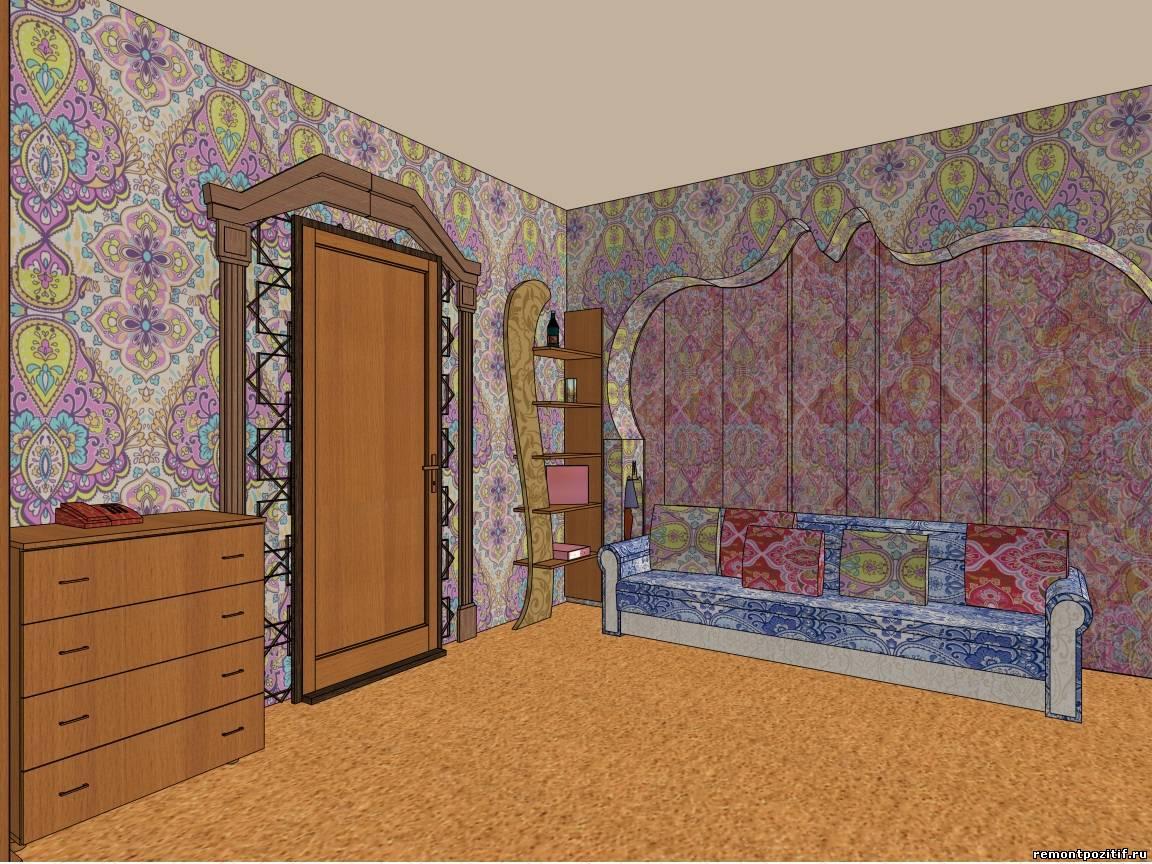 Интерьер комнаты молодого человека