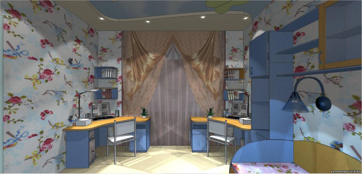 Детская комната 16 квадратных метров дизайн