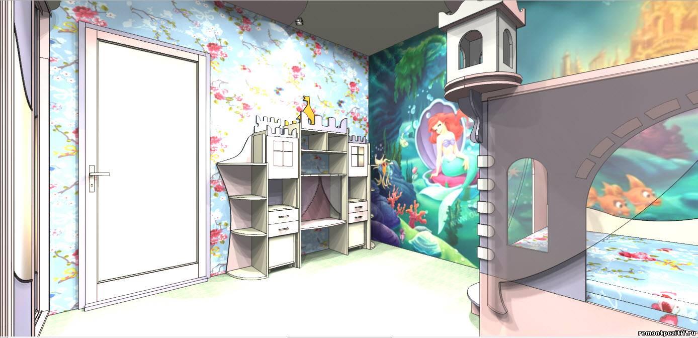 Дизайн детской комнаты для девочки с