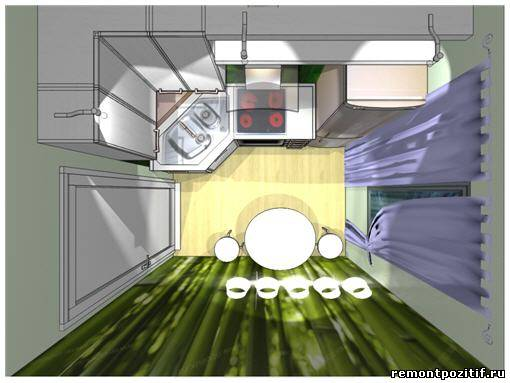 Кухня 8 кв метра дизайн фото