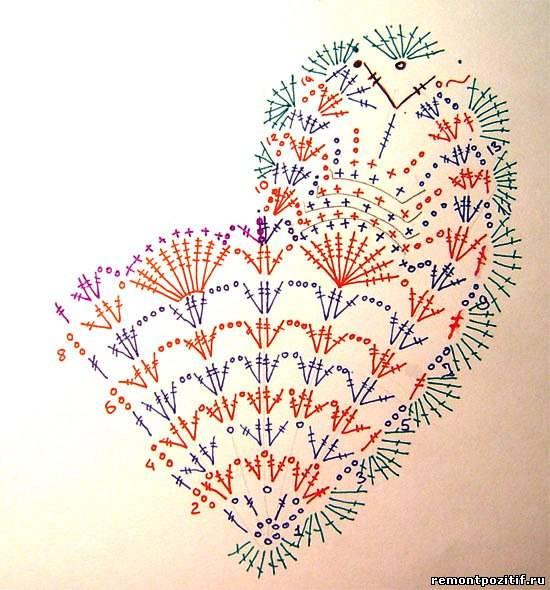 Схема Вязания Сердца Крючком