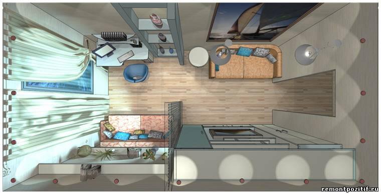 Дизайн комнаты 16 кв м спальни-гостиной