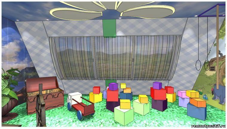 Дизайн проект игровой комнаты