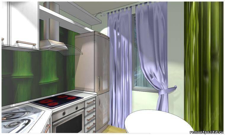Интерьер кухни 2х2